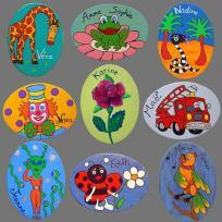 Badges en bois personnalisés