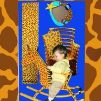 Peinture façon girafe