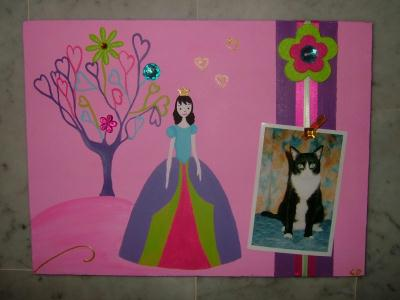 Pele mele arbre coeur princesse cr ation chambre d for Pele mele chambre enfant