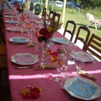 Table estivale pour anniversaire