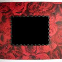 Cadre  photo roses rouges
