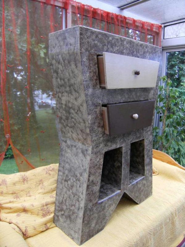 Meuble en carton cr ation meuble en carton de crearose n 20 702 vue 2 028 - Meuble payable en plusieur fois ...