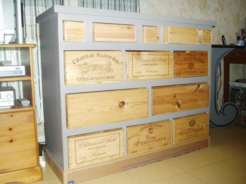 Le meuble ingrid cr ation meuble en carton de creazoe n - Meuble tv caisse vin ...