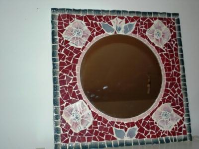 miroir violet cr ation mosa que de bleunuit n 22 782. Black Bedroom Furniture Sets. Home Design Ideas