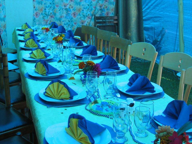 Deco de table pour noces de perles 30 ans cr ation for Decoration de table bleu