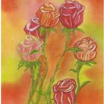 Roses pastelles