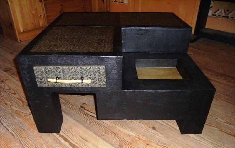 Table basse asie cr ation meuble en carton de mosaicm n 24 121 vue 3 501 f - Meuble payable en plusieur fois ...