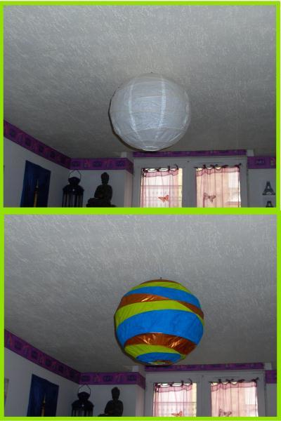 abat jour en papier cr ation peinture multi supports de cerise bleue n 24 190 vue 2 983 fois. Black Bedroom Furniture Sets. Home Design Ideas