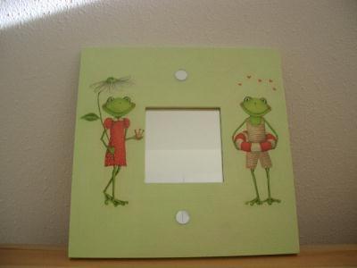 Cadre miroir couple grenouilles cr ation home d co et for Miroir 2000 croix
