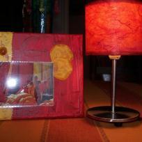Lampe et premiere toile Home déco