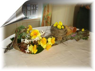joyeuses p ques cr ation art floral de anniegau35 n. Black Bedroom Furniture Sets. Home Design Ideas