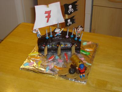 Gateau pirates 7 ans Alex