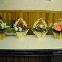 Mes paniers fleuries en pinces a linge