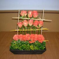 Roses en pyramide