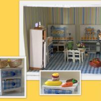 Cuisine de la maison de poupées