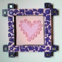 Miroir violet/rose.