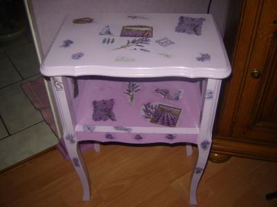 table de chevet cr ation d copatch de dominique4274 n 29 429 vue 3 588 fois. Black Bedroom Furniture Sets. Home Design Ideas