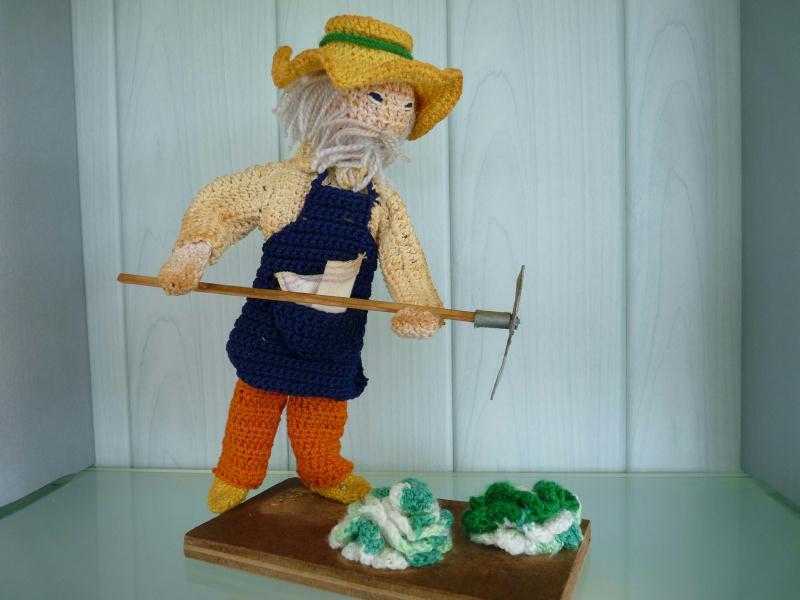Le jardinier et ses salades cr ation crochet de for Recherche jardinier 77
