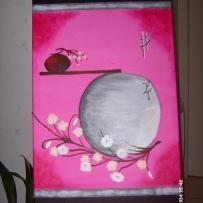 Peinture sur toile La vie en rose