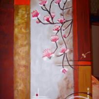 Peinture sur toile automne printanier
