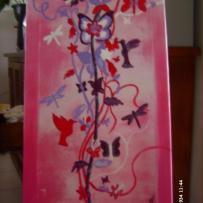 Peinture acrylique de l'envol des papillons
