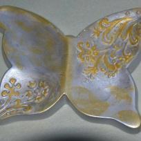 Coupelle papillon argent en Ceramofix