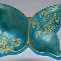 Coupelle papillon bleu - Moulage ceramofix