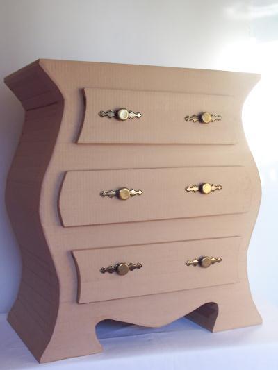 kit de meuble en carton commode 3 tiroirs cr ation. Black Bedroom Furniture Sets. Home Design Ideas