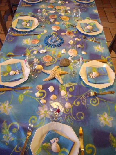Déco de table sur le thème de la mer