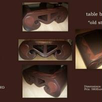 "Table basse ""old style"" en carton"