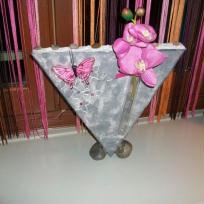 Soliflore galets gris et rose
