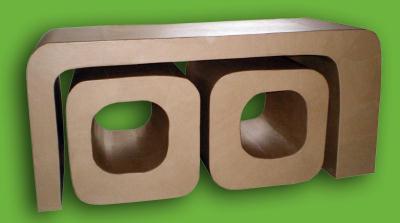 table basse et pouf tony en carton cr ation meuble en carton de l 39 automate d traqu e n 32 111. Black Bedroom Furniture Sets. Home Design Ideas