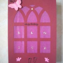 Carte de voeux pour la naissance d'Eloise