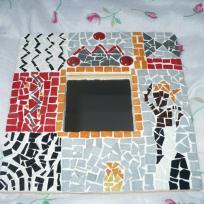 Miroir africain en mosaïque