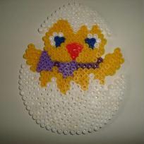 Poussin de Pâques en perles à repasser Hama