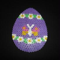 Oeuf de Pâques en perles à repasser Hama