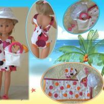 Vêtements poupée Chérie - Tenue de plage