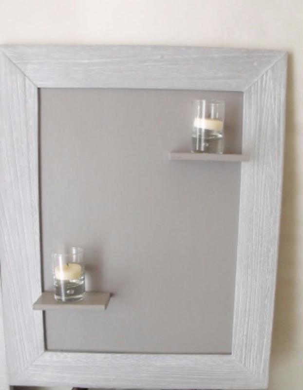 cadre tag re pour bougies cr ation home d co et miroir. Black Bedroom Furniture Sets. Home Design Ideas