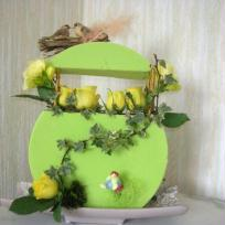 Composition florale pour Pâques