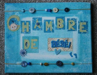 Toile scrap e pour chambre b b cr ation scrapbooking de aurilyn peintures scrap n 32 589 - Toile pour chambre bebe ...
