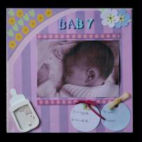 Toile scrapée pour photo bébé Baby