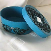 Boite à bijoux décorée au henné naturel