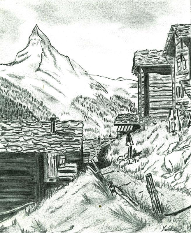dessin paysage au crayon cr ation beaux arts dessin de sydneyfolie n 32 979 vue 11 659 fois. Black Bedroom Furniture Sets. Home Design Ideas