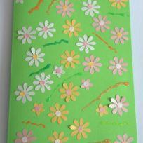Carte d'anniversaire aux couleurs du printemps