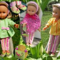 Tenue aux couleurs printanières pour poupée Chérie