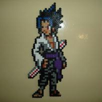 Sasuke, personnage de Naruto en perles Hama