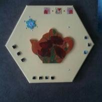 A l'heure du thé, tableau hexagonal