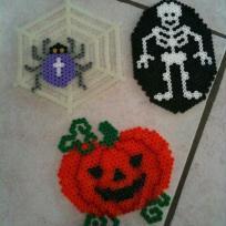 Halloween nous voilà, créations en perles Hama