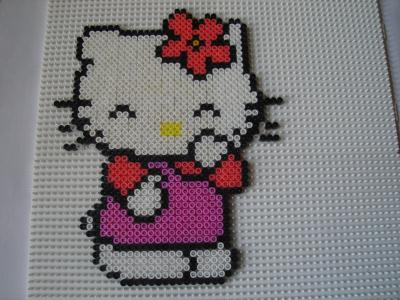 Perles à repasser personnage Hello Kitty