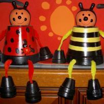 Vive le printemps coccinelle et abeille